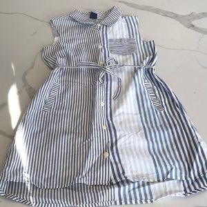 Sleeveless belted shirt dress